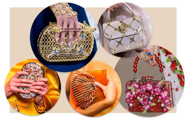 Bolsas pequenas em alta para noites de festa (Foto: Arte Vogue Online)