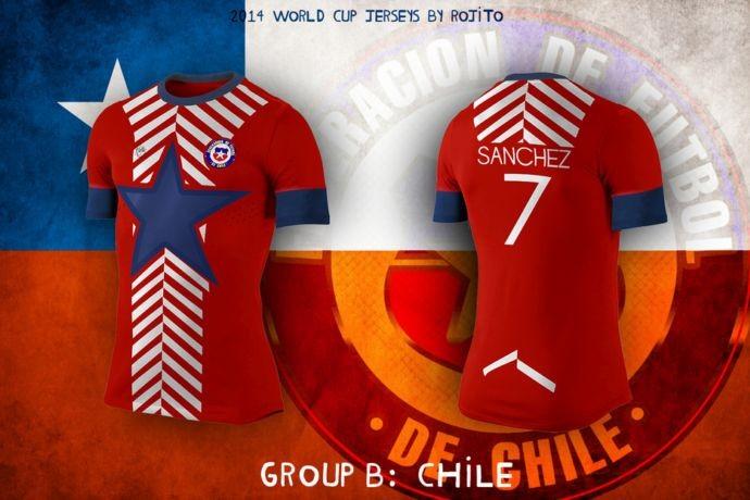 Blog da Copa - design camisa do Chile