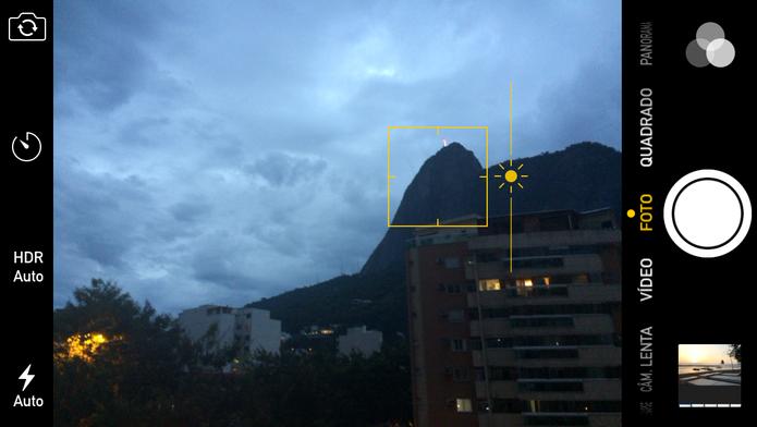 Controle manualmente a exposição da imagem movendo o ícone do Sol (Foto: Reprodução/Juliana Pixinine)