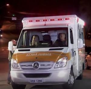 Goleiro Follmann na chegada a São Paulo (Foto: Reprodução/SporTV)