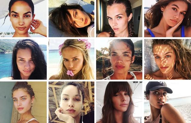 Beleza natural: as selfies das tops sem maquiagem (Foto: Reprodução/ Instagram)