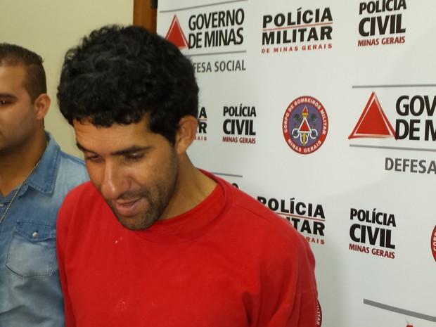 Márcio da Silva é suspeito de arrombar bancos na Região de Venda Nova, em BH.  (Foto: Alex Araújo/ G1)