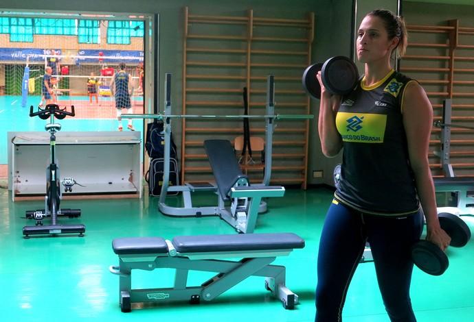vôlei dani lins brasil musculação (Foto: Divulgação)