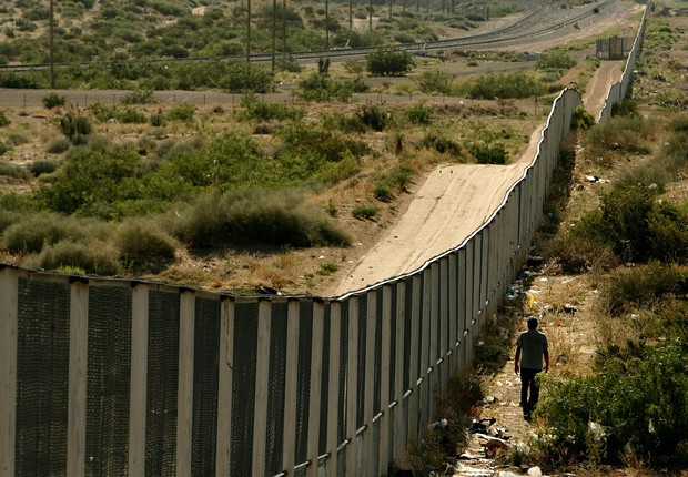Fronteira entre México e EUA (Foto: Chip Somodevilla/Getty Images)