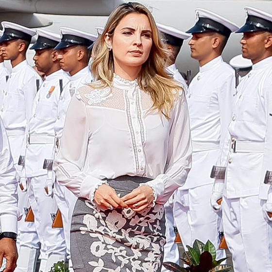 Involuntariamente, a primeira-dama Marcela Temer tem impulsionado uma jovem grife de Brasília: a Luisa Farani (Foto: Beto Barata/PR)