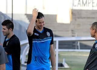 Jogadores em treino físico do Treze na tarde desta quinta-feira (Foto: Nelsina Vitorino / Jornal da Paraíba)