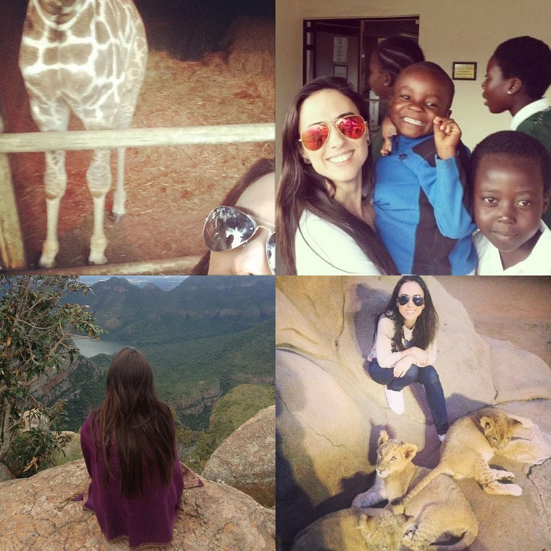 Fotos de Tatá Werneck na África do Sul (Foto: reprodução / instagram)
