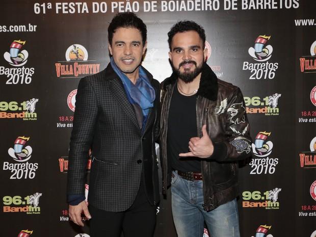 Zezé Di Camargo e Luciano em show em São Paulo (Foto: Rafael Cusato/ Brazil News)