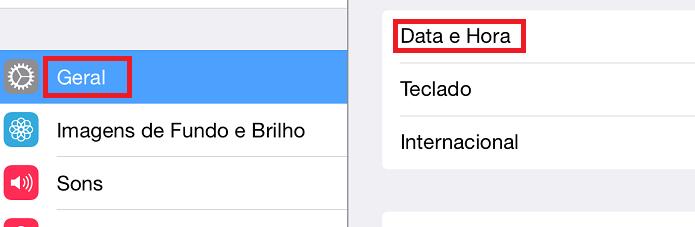 Acessando a opção que permite mudar a data e a hora no iOS (Foto: Reprodução/Edivaldo Brito)