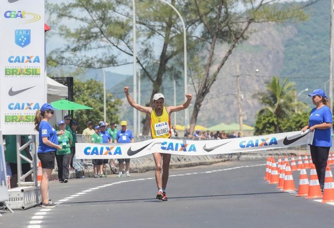 Claudio Flores (Equador), campeão do evento-teste e sul-americano nos 50 km (Foto: André Telles/CBAt)