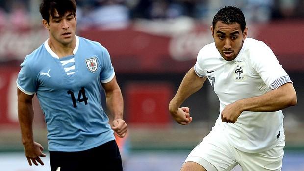 Nicolas Lodeiro jogo Uruguai e França (Foto: AFP)