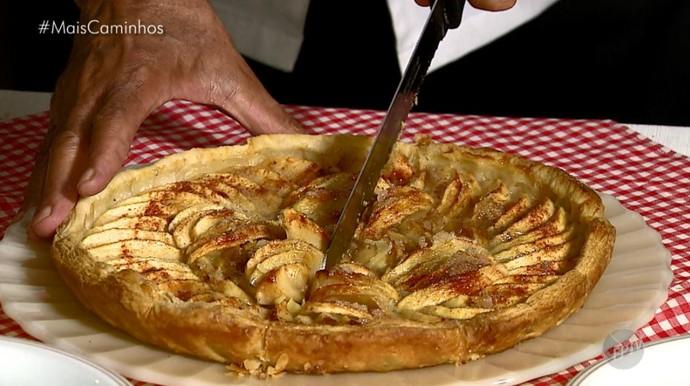 Torta de maçã é dica no quadro 'Segredos da Cozinha' (Foto: reprodução EPTV)