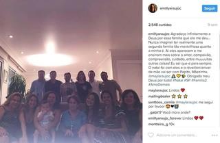 Emilly no Natal com a familia do ex (Foto: Reprodução / Instagram)