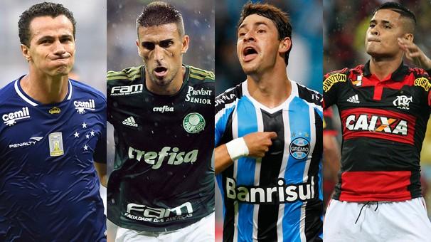 Cruzeiro, Palmeiras, Grêmio e Flamengo entram em campo nesta quarta-feira, dia 25 (Foto: globoesporte.com)