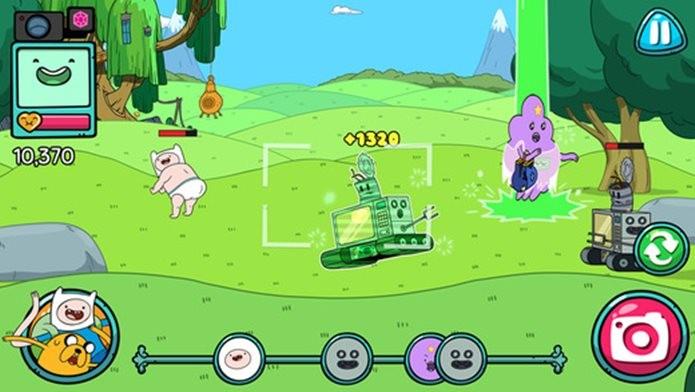 Tire fotos dos personagens engraçados de Hora de Aventura em BMO Snaps (Foto: Divulgação / Cartoon Network)