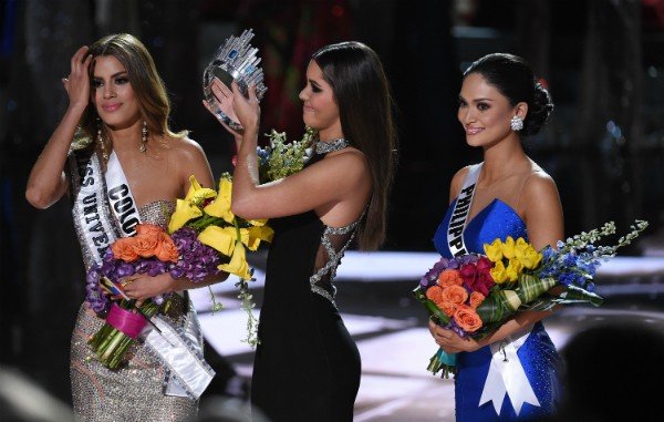 A confusão no Miss Universo 2015 (Foto: Getty Images)