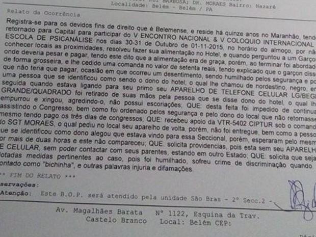 Caso foi registrado na Seccional de São Brás. (Foto: Henrique Noronha/ Arquivo Pessoal)