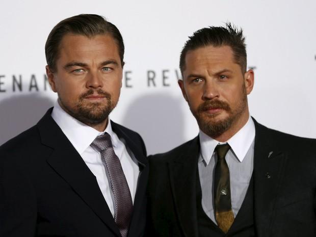 Leonardo DiCaprio e Tom Hardy em première em Los Angeles, nos Estados Unidos (Foto: Mario Anzuoni/ Reuters)