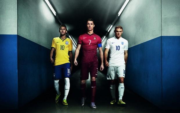 Neymar campanha da nike com Rooney e CR7 (Foto: Divulgação / Nike)