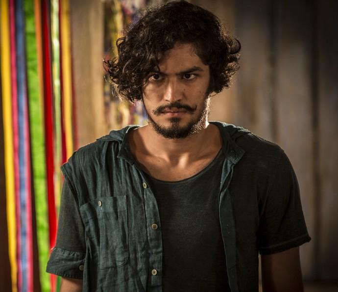 Miguel aparece de surpresa na fazenda Piatã (Foto: Inácio Moraes/ Gshow)