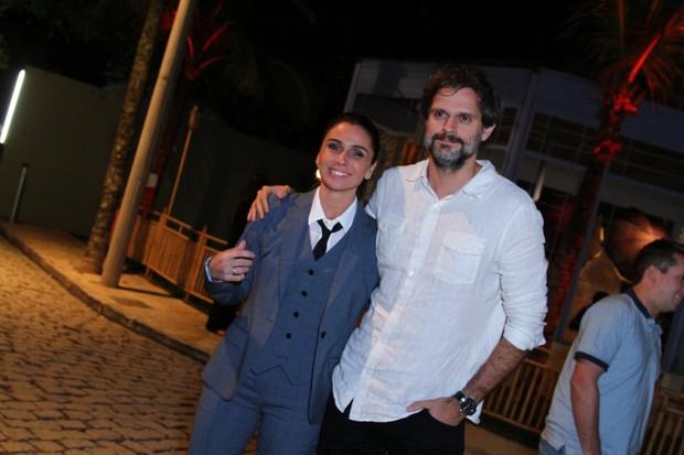 GIovanna Antonelli com o marido Leonardo Nogueira no lançamento da novela Sol Nascente  (Foto: Fabio Moreno/Agnews)