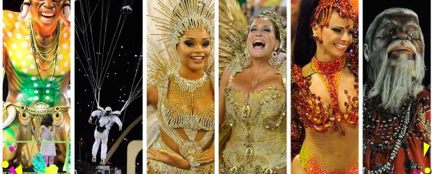Desfile das melhores do carnaval do Rio tem duelo de gritos de 'é campeã!' (Desfile das melhores do carnaval do Rio tem duelo de gritos de 'é campeã!' (Editoria de Arte/G1))