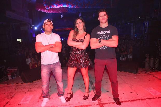José Aldo, Carol Sampaio e José Loreto (Foto: Reginaldo Teixeira/CS Eventos Divulgação)
