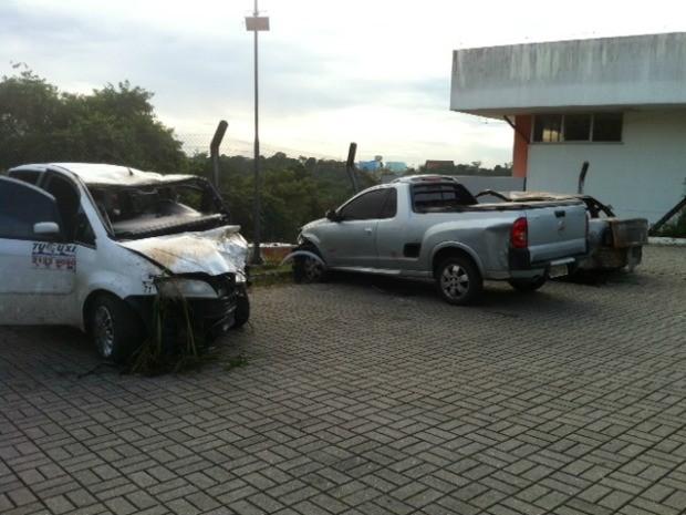 Taxista morreu em acidente de trânsito com três veículos em Manaus (Foto: Ana Graziela Maia/G1 AM)