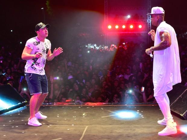 Wesley Safadão e Léo Santana em show em Salvador, na Bahia (Foto: André Muzell/ Brazil News)
