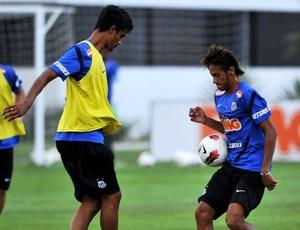 Jubal e Neymar (Foto: Ivan Storti / Divulgação Santos FC)
