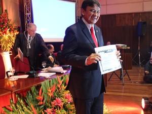Governador eleito do Piauí, Wellington Dias, é diplomado  (Foto: Ellyo Teixeira/G1)