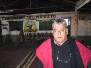 Patrão do CTG está otimista com andamento dos trabalhos (Foto: Estêvão Pires/G1)