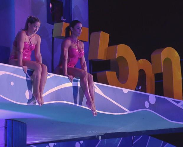 Gracyanne Barbosa deixou a competição  (Foto: TV Globo)