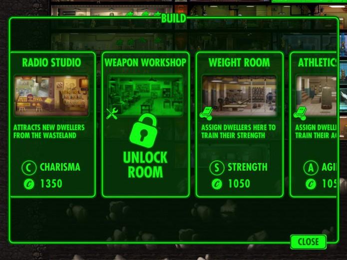 Desbloqueie as novas salas para poder criar armas e roupas especiais (Reprodução/Cássio Barbosa)