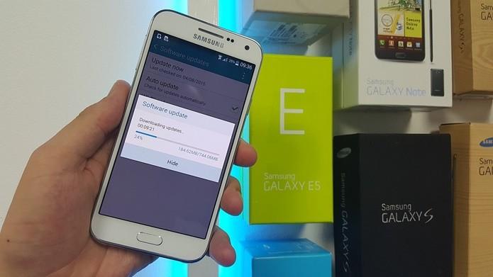 Atualização para Android Lollipop pode chegar em breve ao Galaxy E5 Brasileiro (Foto: Reprodução / Sammobile)