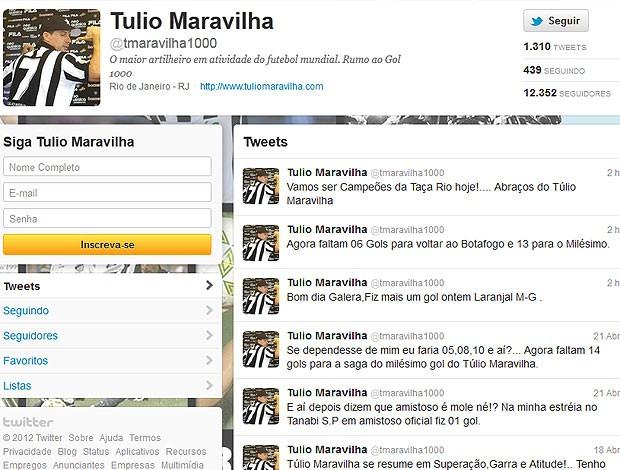 Tulio, Botafogo (Foto: Reprodução / Twitter)