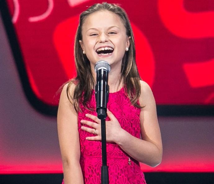 Rafa Gomes canta 'História de Uma Gata' nas Audições do The Voice Kids (Foto: Isabella Pinheiro/Gshow)
