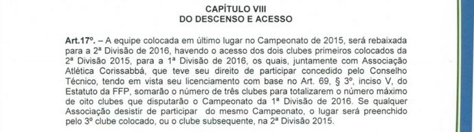 Regulamento Campeonato Piauiense 2015 (Foto: Reprodução/FFP)