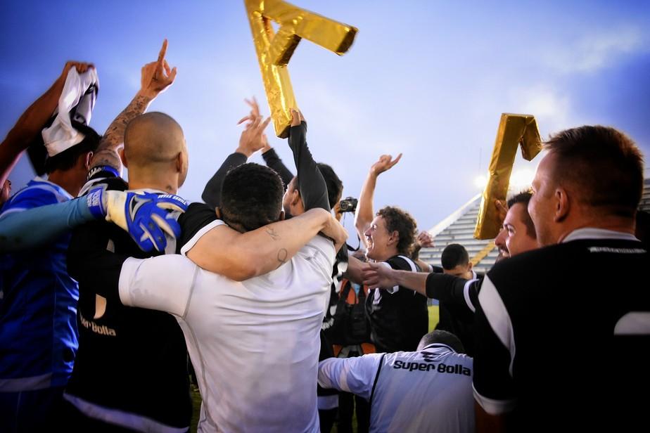 Jogadores do Braga comemoram