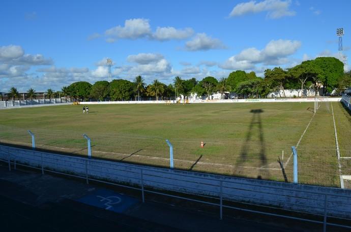 Estádio Texeirão em Santa Rita (Foto: Yordan Cavalcanti / GloboEsporte.com/pb)
