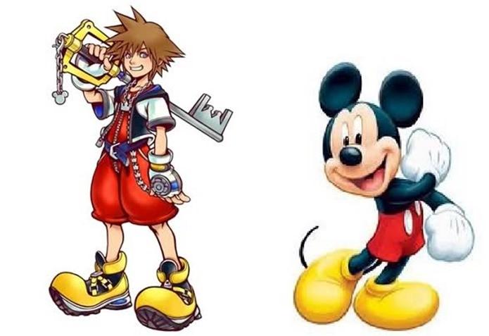 Roupas de Sora são inspiradas em Mickey Mouse (Foto: Reprodução / VGFacts)