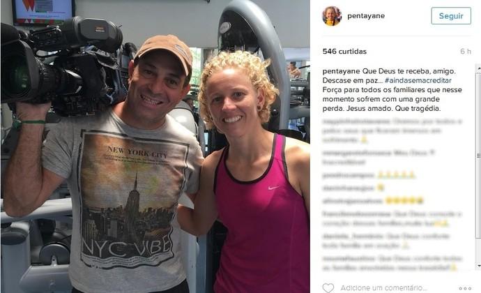 Yane Marques posta homenagem ao cinegrafista Ari Júnior (Foto: Reprodução/Instagram)