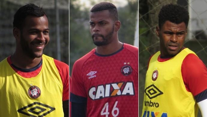 Marcão Jorge Fellipe Wanderson Atlético-PR (Foto: Fernando Freire)