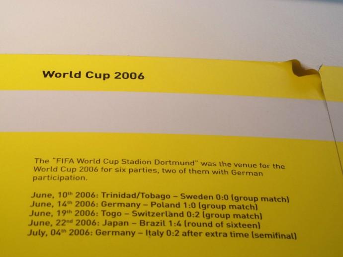 Estádio recebeu cinco jogos da Copa do Mundo de 2006