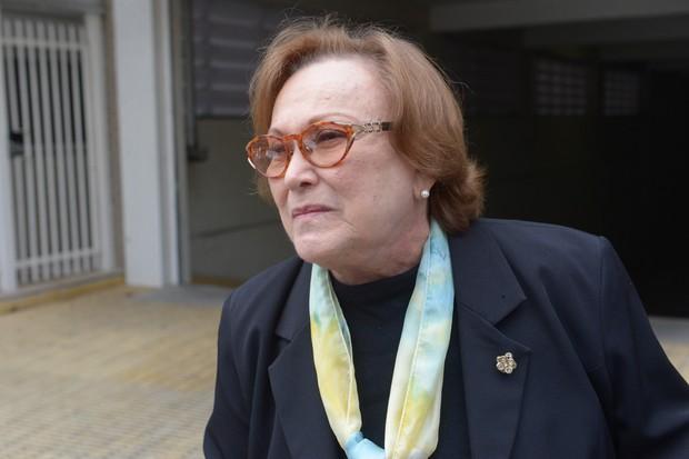 Velório Domingos Montagner - Nicette Bruno (Foto: Francisco Cepeda/ AgNews)