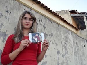 Keille Pereira, filha de operário morto na Arena Corinthians - Limeira (Foto: Thomaz Fernandes/G1)