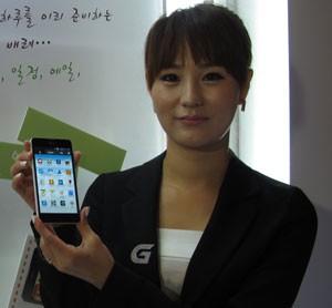 LG lançou no smartphone Optimus G na Coreia do Sul (Foto: Daniela Braun/G1)