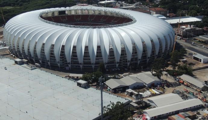 Beira-Rio visto de cima durante voo panorâmico em Porto Alegre (Foto: Rafaella Fraga/GloboEsporte.com)