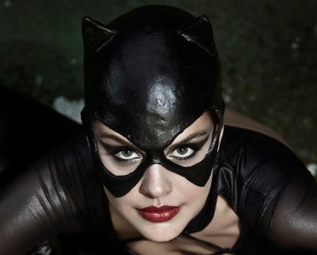 Atriz fez pedido especial para o site do Vídeo Show: 'Quero fotografar como mulher-gato' (Foto: Marcelo Corrêa)