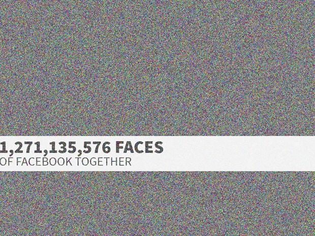 Site cria imagem com fotos de todos os usuários do Facebook (Foto: Reprodução/The Faces of Facebook)